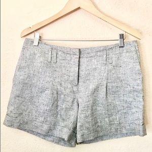 Ann Taylor LOFT Metallic Threaded Cuffed Shorts